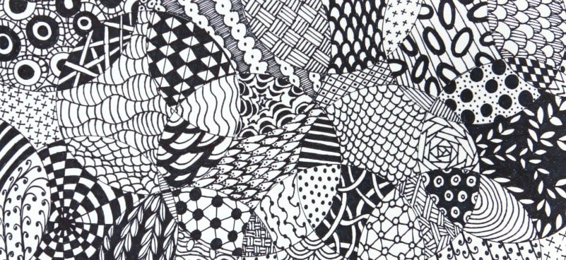 photograph regarding Printable Zentangle Patterns known as Completely Straightforward Zentangle · Craftwhack