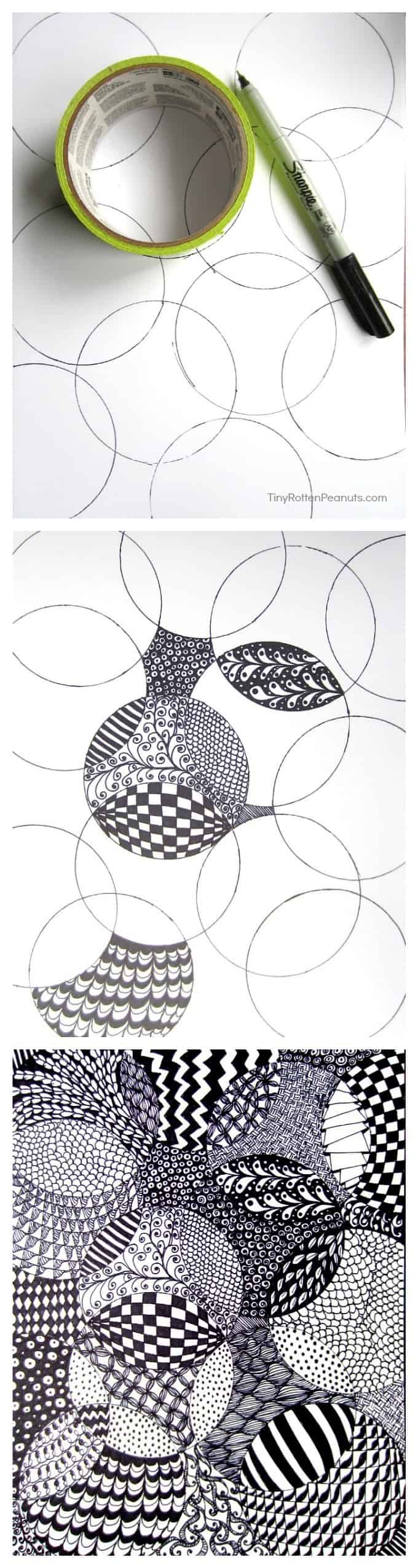 Totally easy zentangle craftwhack cool and and super easy zentangle drawing project fandeluxe Image collections