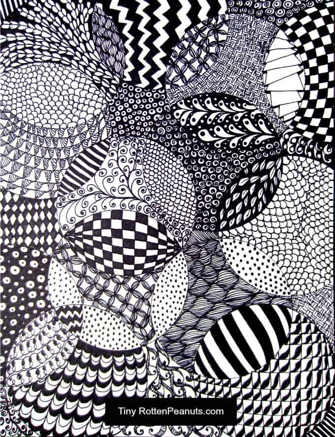 zentangle drawing idea