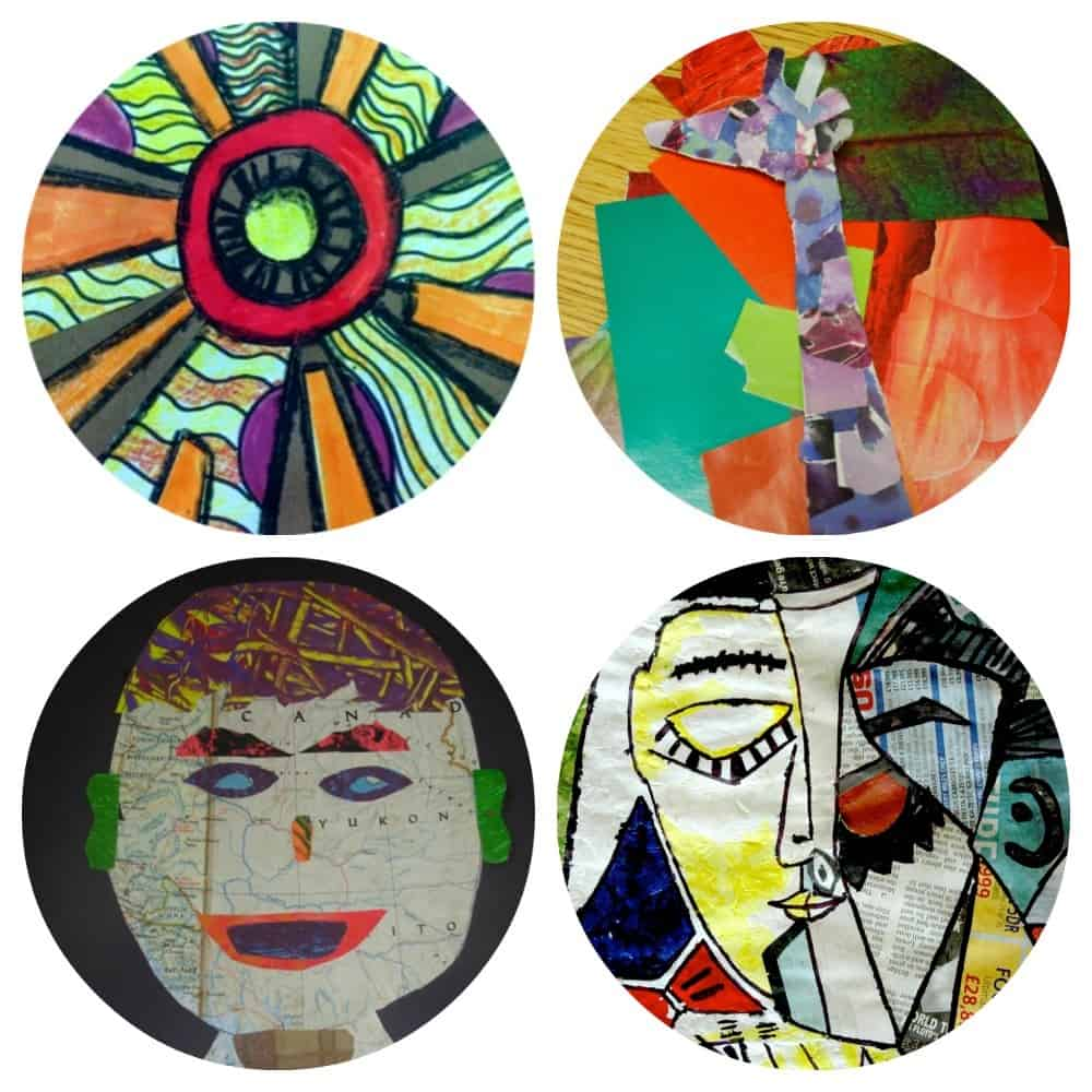 4 very cool collage art project ideas