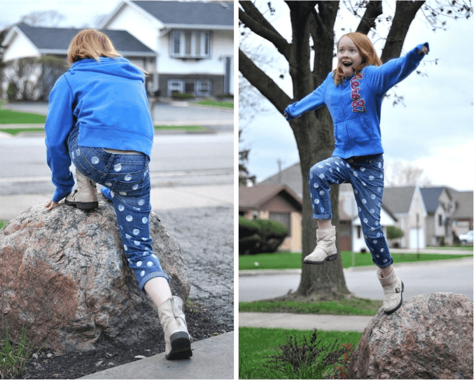 Make your own dotty jeans