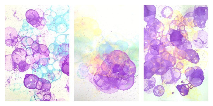 bubble printing collage