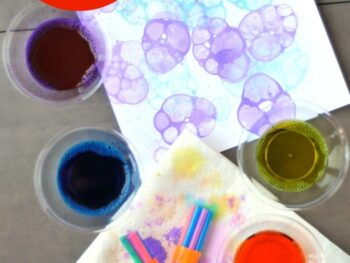 printmaking with bubbles