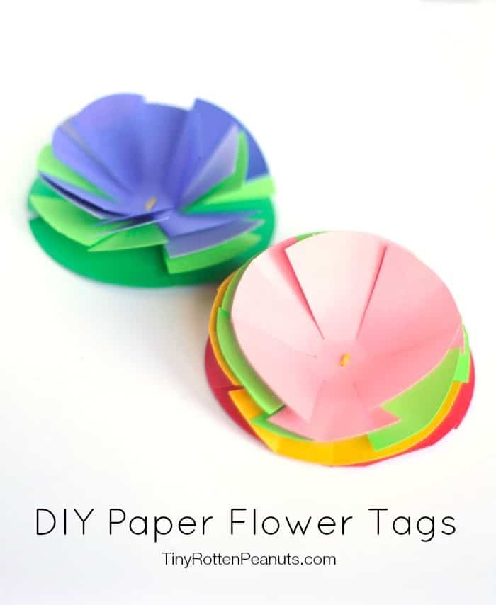 DIY paper flower tags