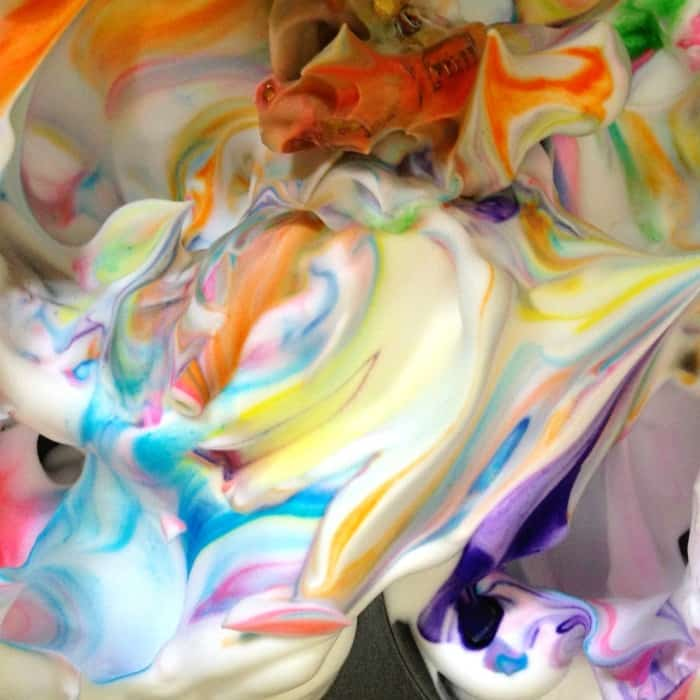 shaving cream painting for kids