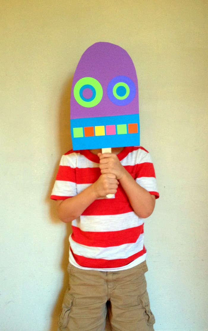 paper popsicles are fun as masks, too!