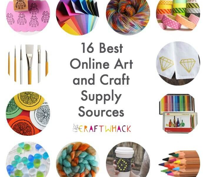 Awesome places to buy art and craft supplies online