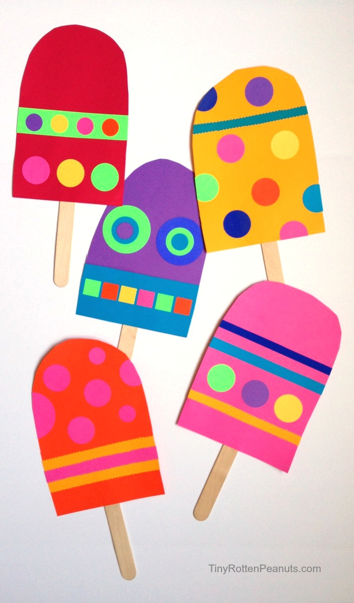 paper popsicle craft!
