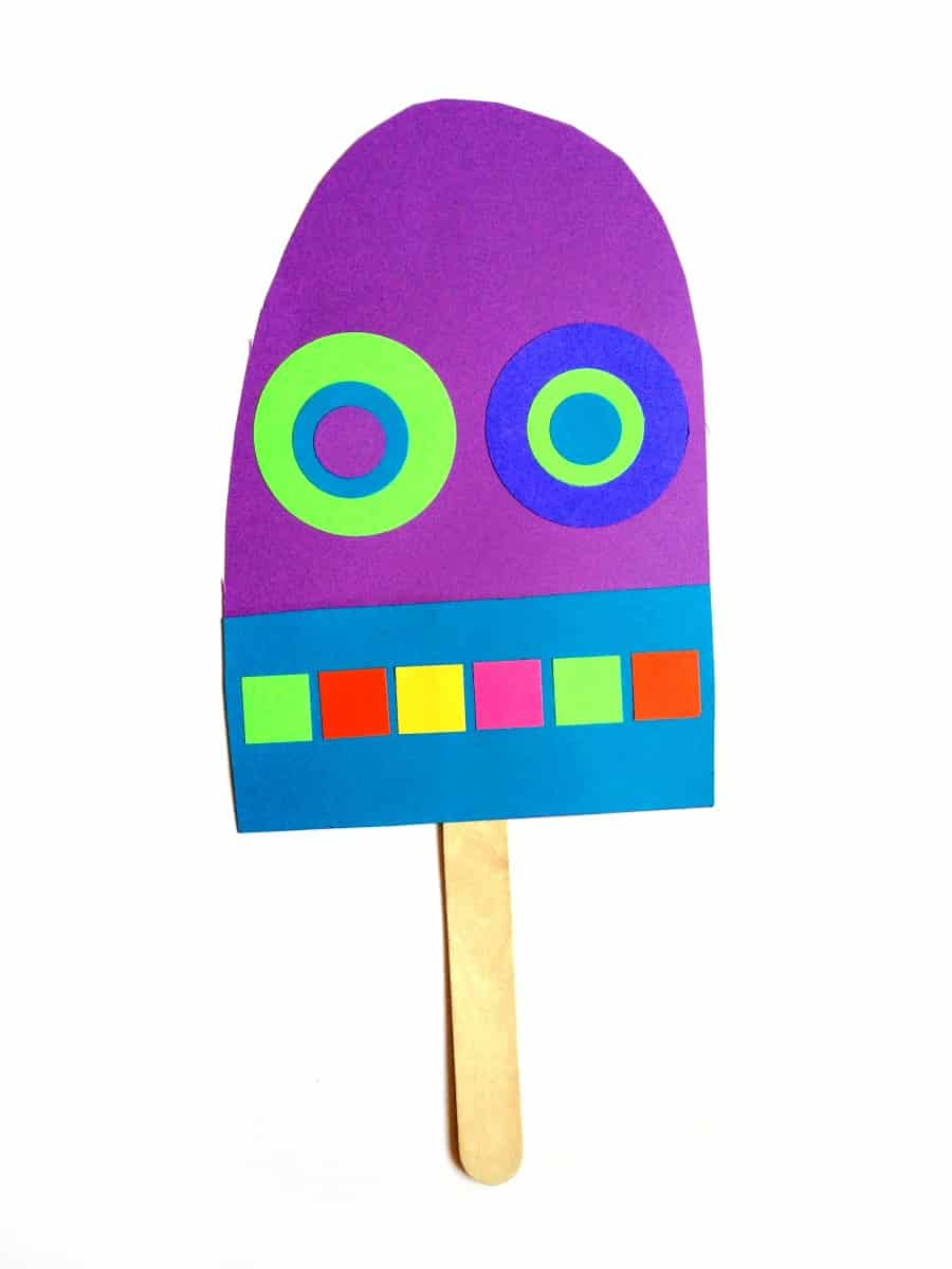 purple paper popsicle