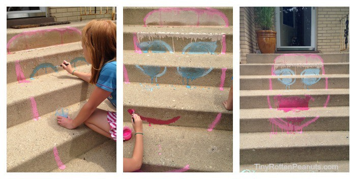 sidewalk chalk paint project