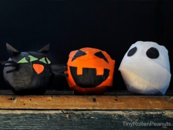 DIY surprise balls for Halloween