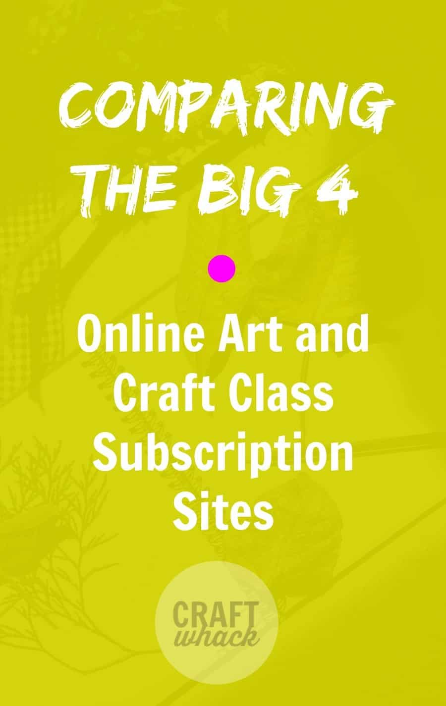 online craft and art classes