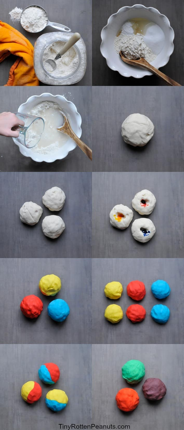 playdough color theory- mix up some easy playdough and teach your kids about color mixing at the same time