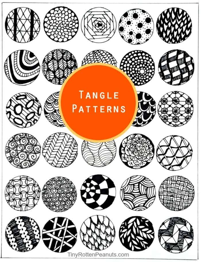 Inspired By Zentangle Patterns and Starter Pages Craftwhack Interesting Zen Tangle Patterns