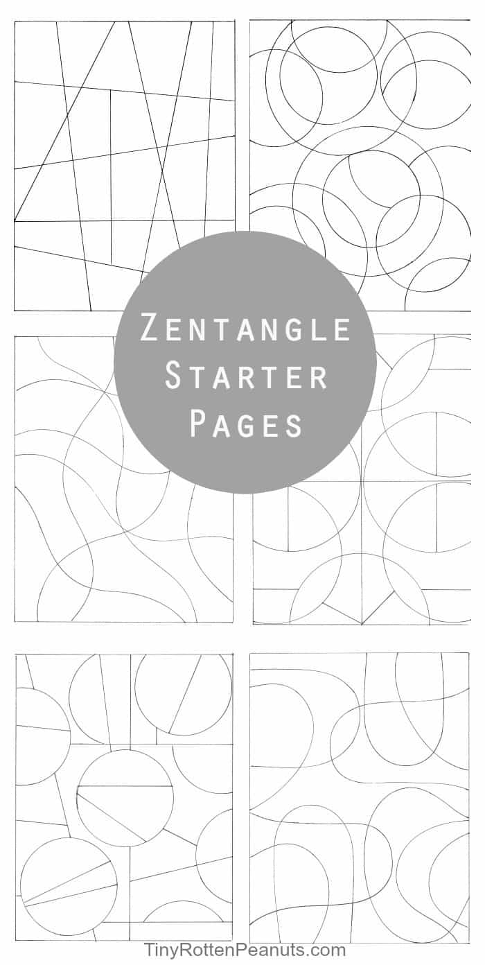 Totally easy zentangle craftwhack zentangle starter pages and zentangle patterns fandeluxe Image collections
