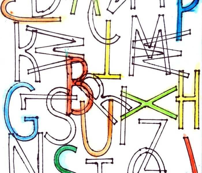 alphabet drawing - easy art project