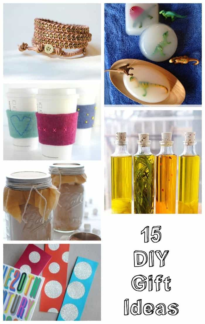 15 DIY gift ideas - great for holiday