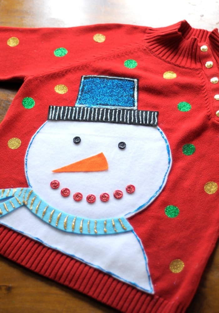 DIY ugly Christmas sweater project