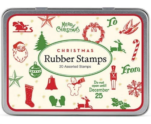 Vintage Christmas rubber stamps