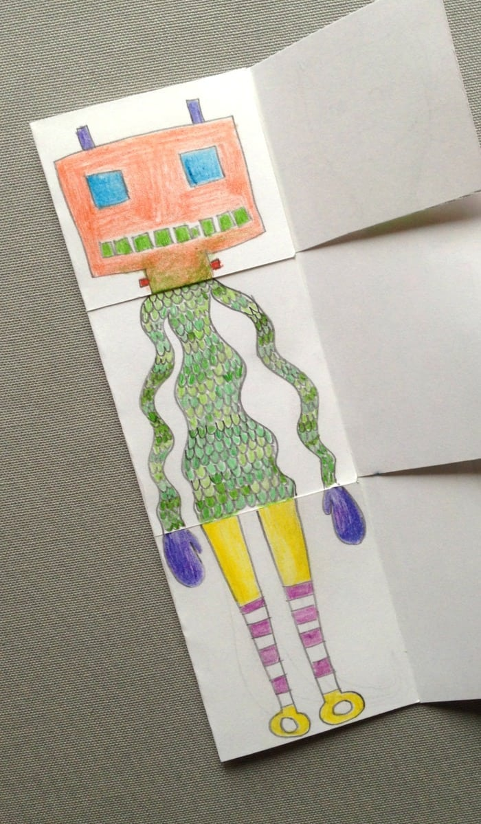 exquisite corpse drawing game for kids