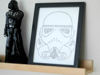 Stormtrooper wall art DIY