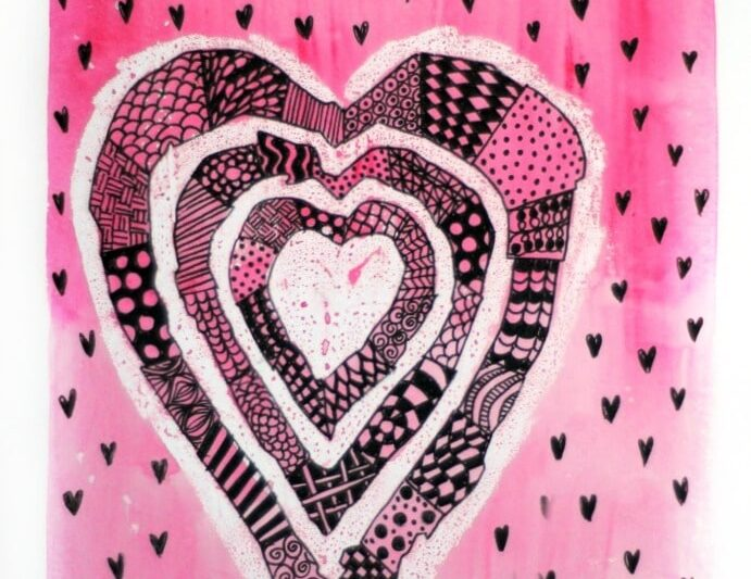 zentangle heart