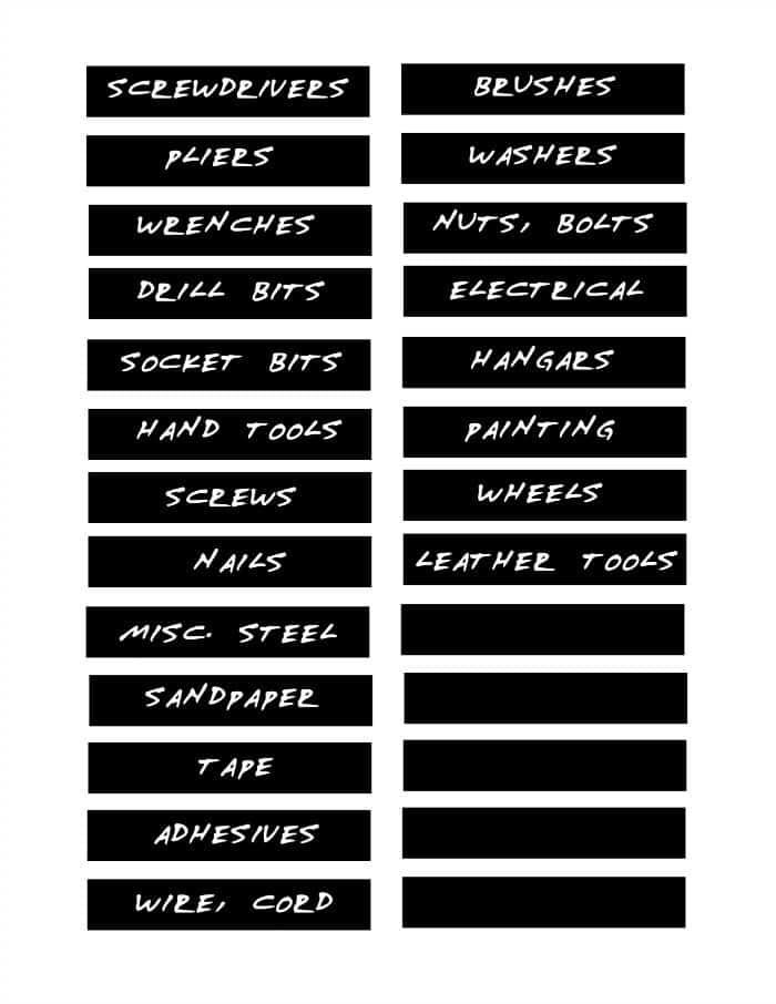 Make your own font and use it for magnetic labels