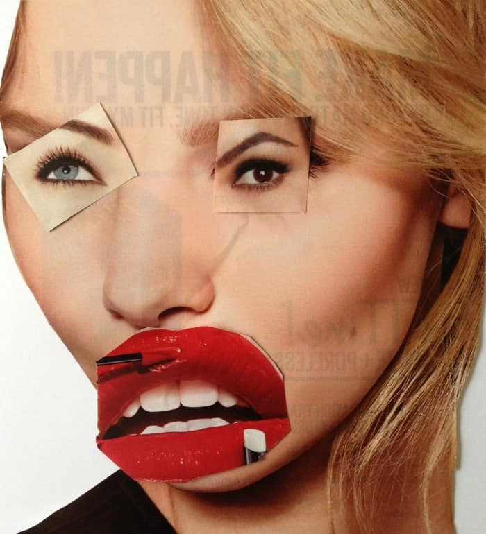 Awesome surreal magazine collage faces. TinyRottenPeanuts.com