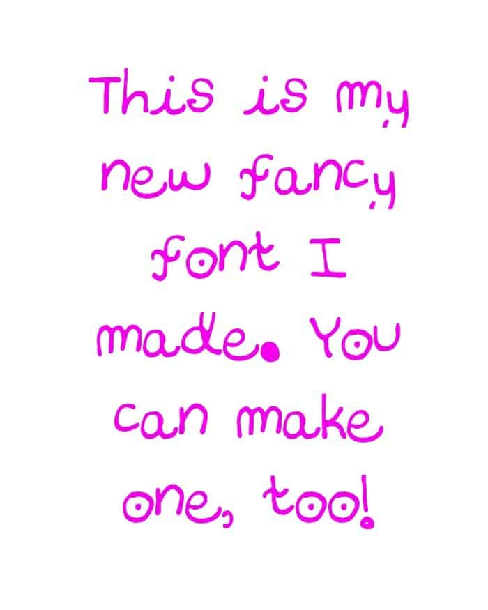 Make your own font from your handwriting
