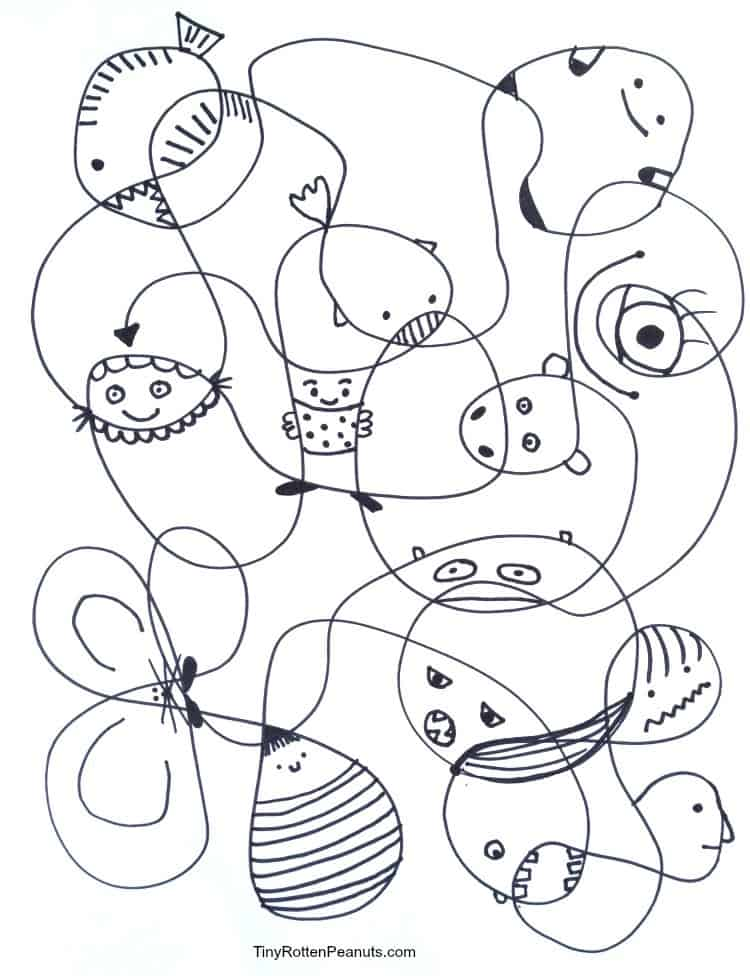 Scribble Drawing Ideas : Simple as pie scribble creatures craftwhack