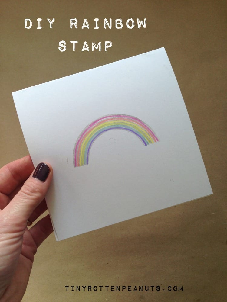 DIY rainbow stamp card