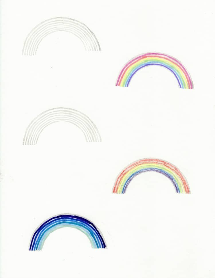 DIY rainbow stamp project