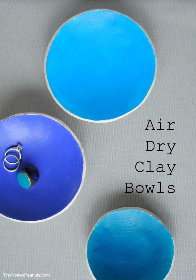 sweet little air dry clay bowls craftwhack. Black Bedroom Furniture Sets. Home Design Ideas