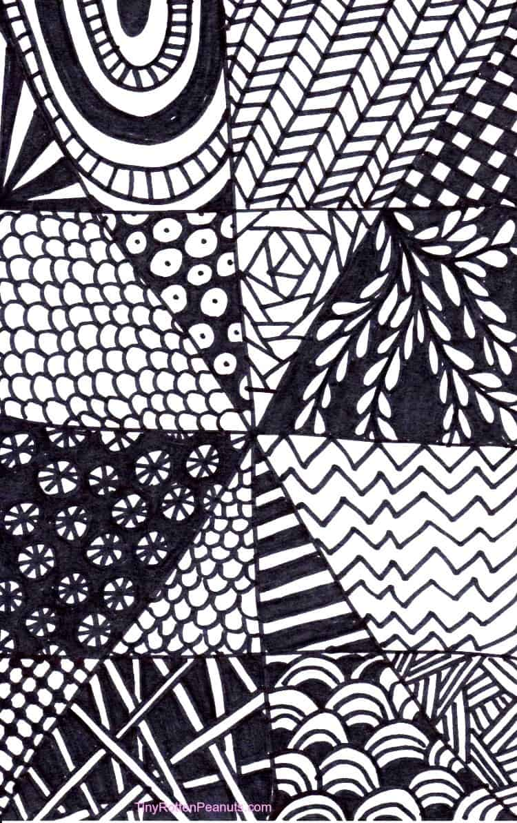 Line Art Zentangle : Quick and easy tangle drawing craftwhack