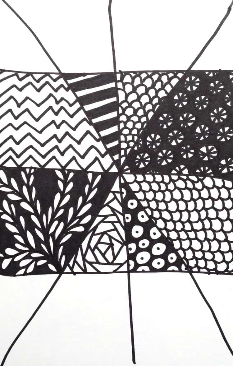 Easy Zentangle Project part 2