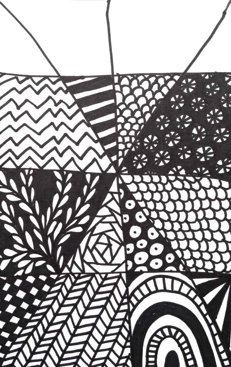 Easy Zentangle Project part 3