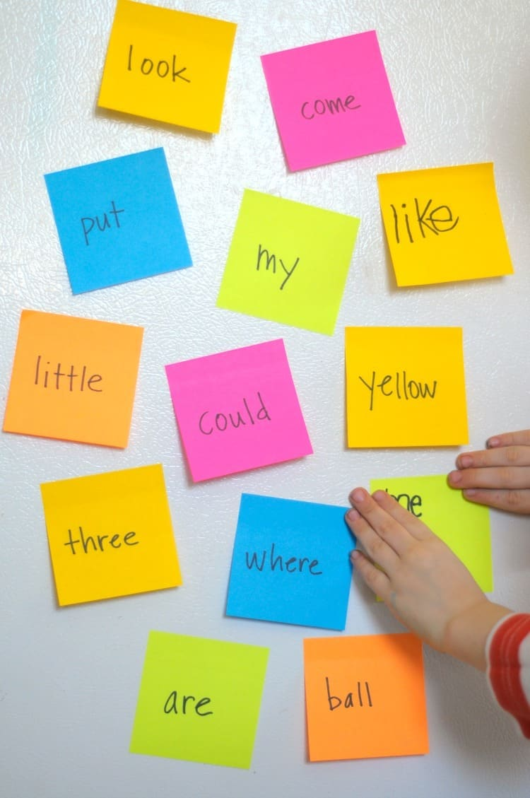 Use Post-its for sight word practice.