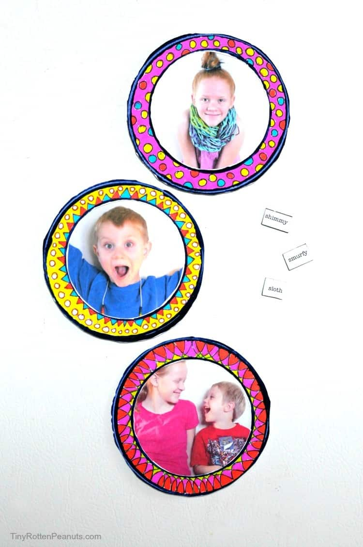 DIY magnetic photo frames