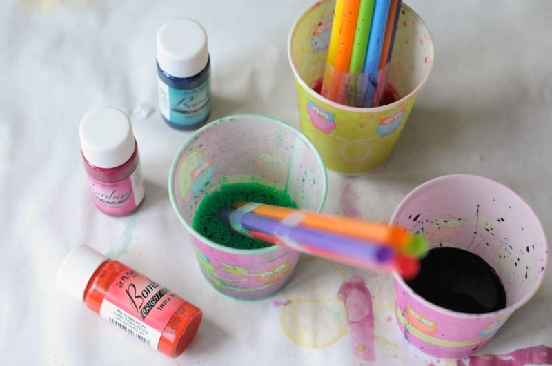 straw bubble painting