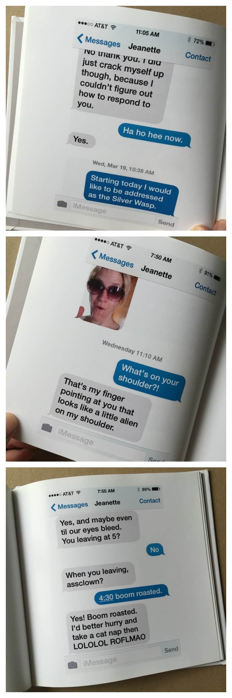 Texts turned into a book - cool gift idea