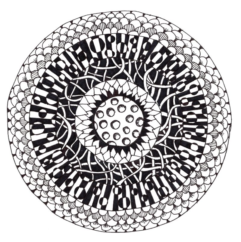 Bullseye Zentangle Project - It's actually totally easy, even though it looks hard