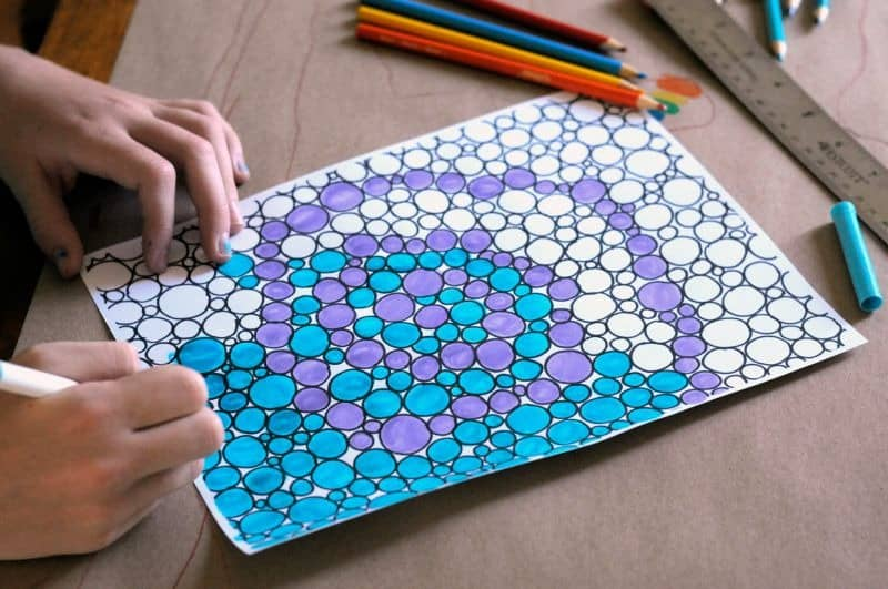 Dots coloring page- part of a new coloring book for adults ebook