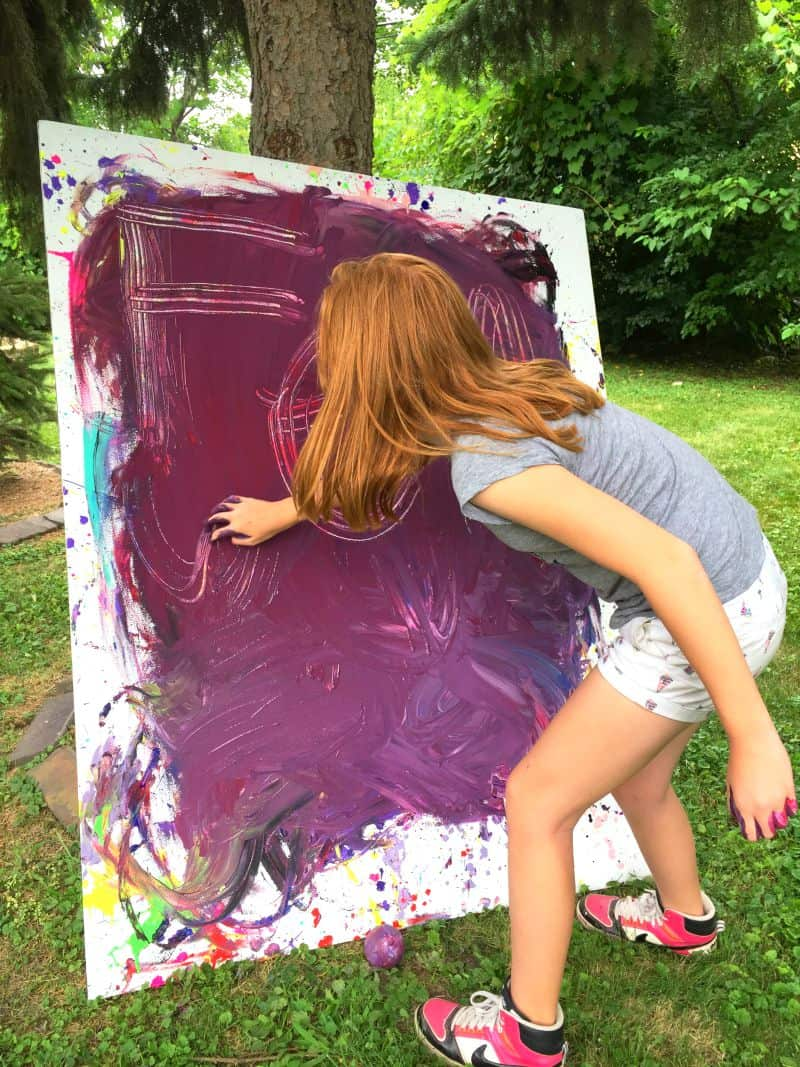 Giant process art for tweens