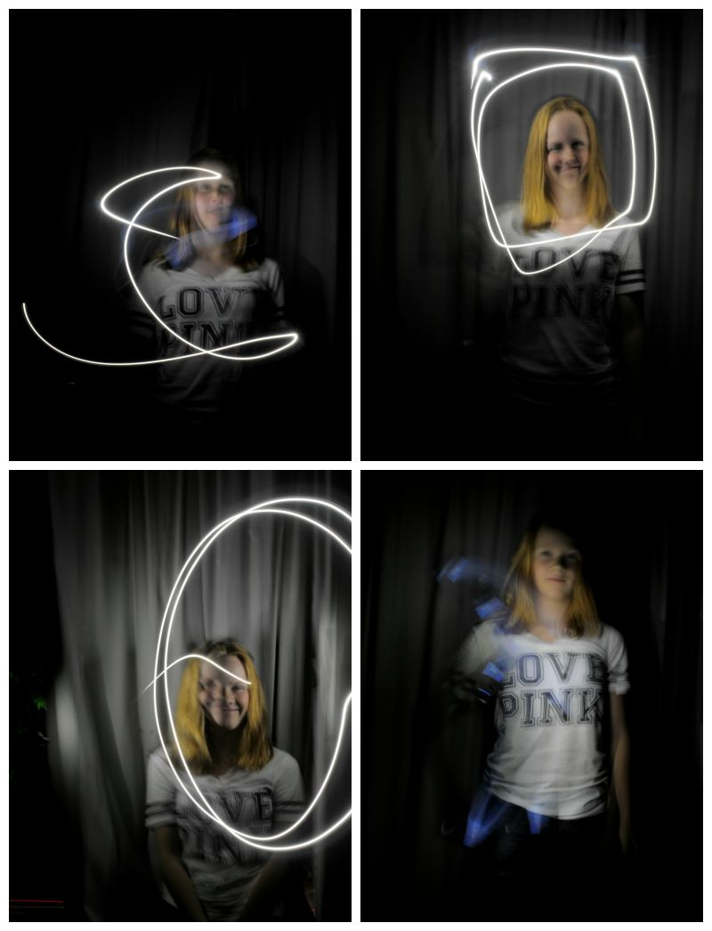 Using a flashlight for light painting - learn how to do this here.