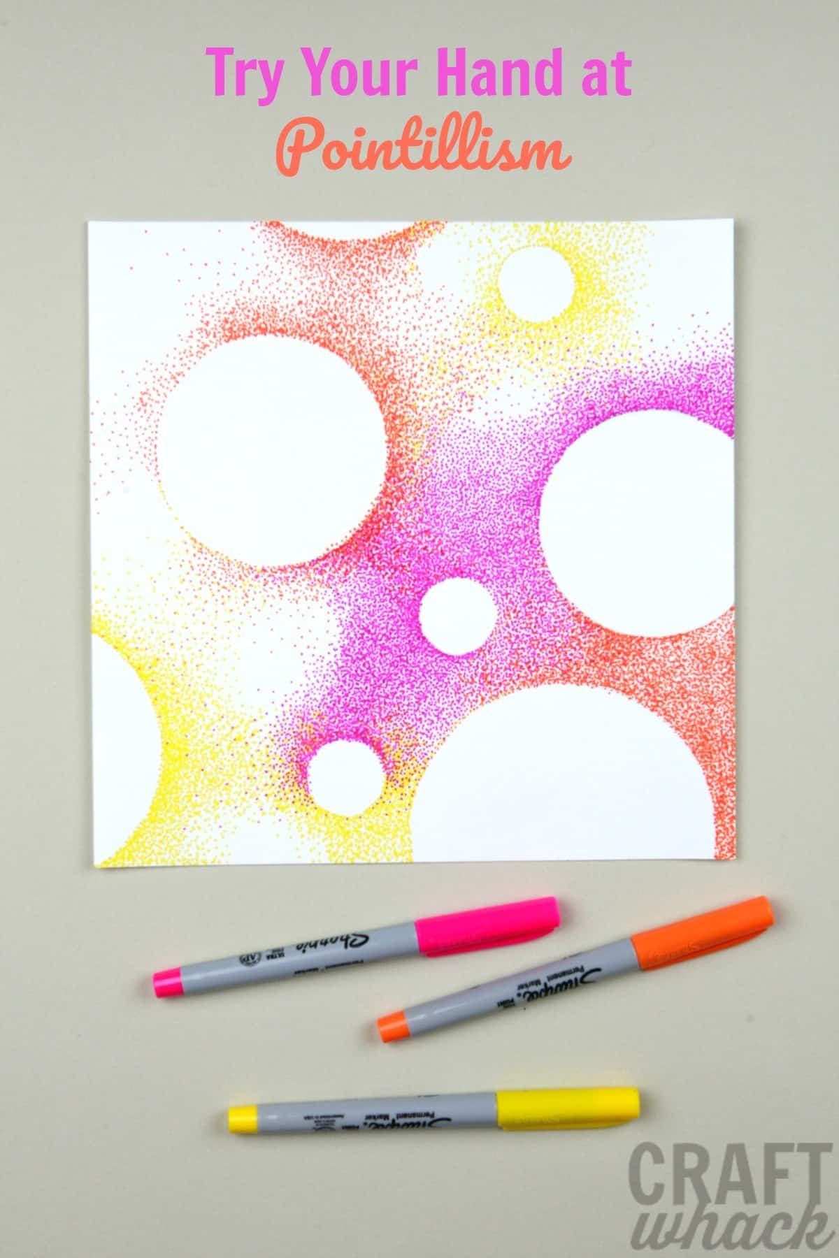 pointillism art project circles