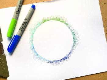 Circle pointillism DIY project