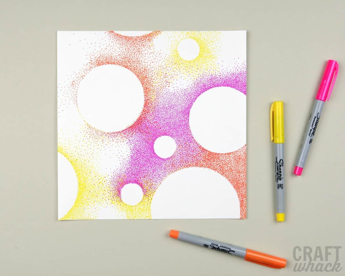 pointillism circles