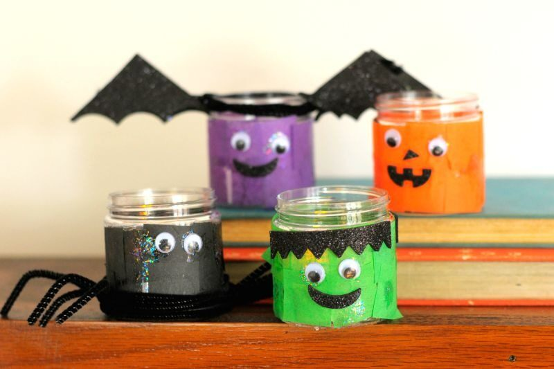Kiwi crate craft tealight holders