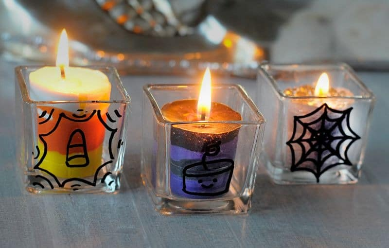 Easy Crafts For Kids - Halloween Candles from Kiwi Crate kit