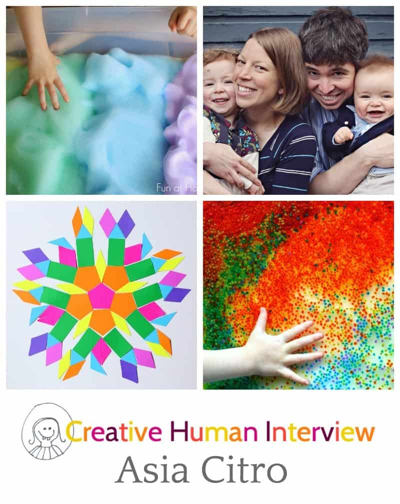 Interview with creative blogger Asia Citro from Fun at Home with Kids